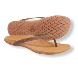 Chaco Biza Flip-Flops Cognac Leather 6M